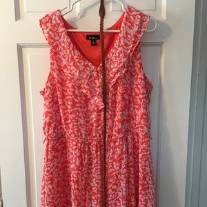 Ruffled spring dress